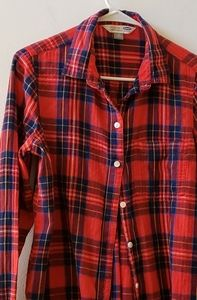 Red and blue and black flannel